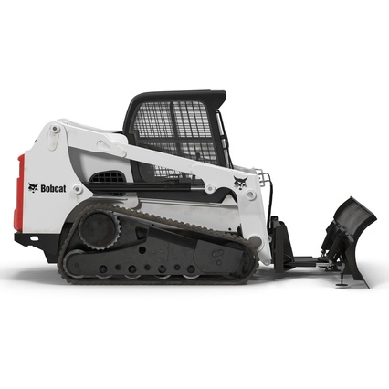 Compact Tracked Loader Bobcat With Blade Rigged. Render 12