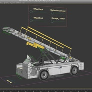 Tug 660 Aircraft Belt Loader Rigged. Preview 24