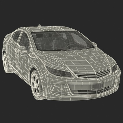 Generic Hybrid Car Rigged. Render 75