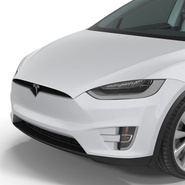 Tesla Model X Rigged. Preview 45