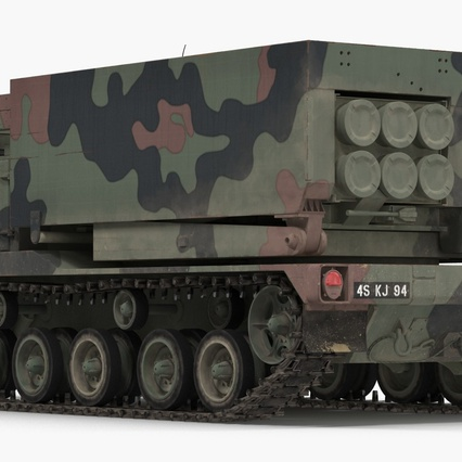 US Multiple Rocket Launcher M270 MLRS Camo. Render 6