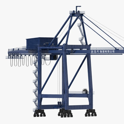 Container Crane Blue. Render 3