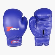 Boxing Gloves Twins Blue. Preview 1