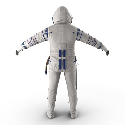 Russian Astronaut Wearing Space Suit Sokol KV2 Rigged for Maya. Render 12