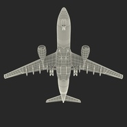 Jet Airliner Airbus A330-200 Northwest Airlines Rigged. Preview 63