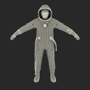 Russian Astronaut Wearing Space Suit Sokol KV2 Rigged for Maya. Preview 4