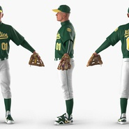 Baseball Player Rigged Athletics for Cinema 4D. Preview 5
