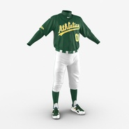 Baseball Player Outfit Athletics 3. Preview 10