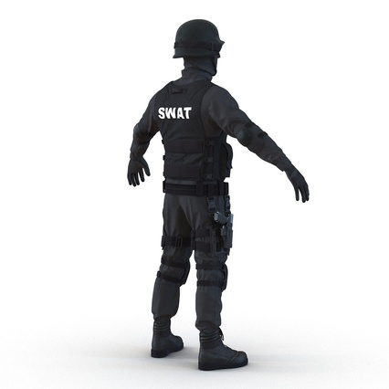 SWAT Man Mediterranean Rigged for Maya. Render 13