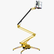 Telescopic Boom Lift Yellow 3