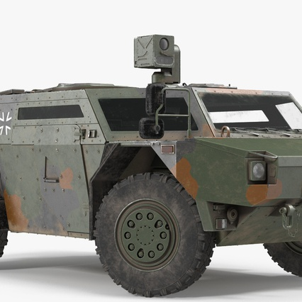 Fennek German Reconnaissance Vehicle Rigged. Render 6