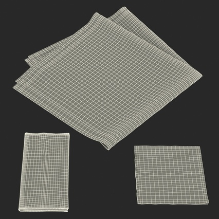 Napkins Collection. Render 35