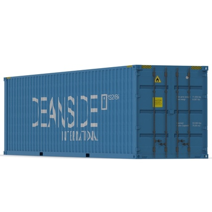 40 ft High Cube Container Blue 2. Render 9