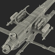Attack Helicopter Bell AH 1Z Viper Rigged. Preview 100