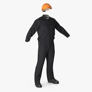 Long Sleeve Coveralls Uniform with Hardhat
