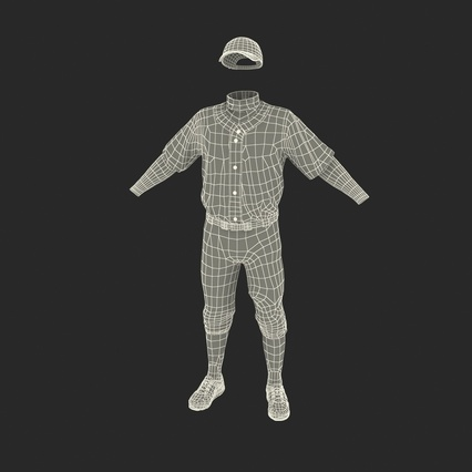 Baseball Player Outfit Mets 2. Render 4