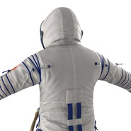 Russian Astronaut Wearing Space Suit Sokol KV2 Rigged for Maya. Preview 24