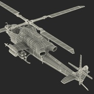 Attack Helicopter Bell AH 1Z Viper Rigged. Preview 96