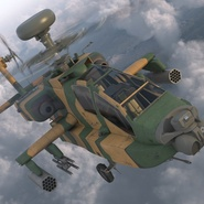AH-64D Apache Longbow Japan Rigged. Preview 9