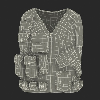 Military Camouflage Vest. Render 4