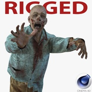 Zombie Rigged for Cinema 4D. Preview 1