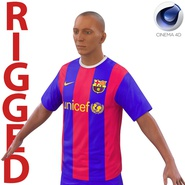 Soccer Player Barcelona Rigged 2 for Cinema 4D