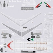 Jet Airliner Airbus A330-300 Emirates Rigged. Preview 55