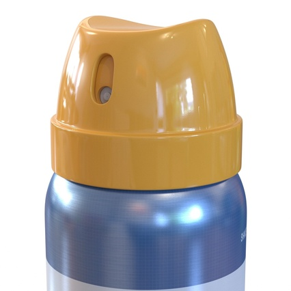 Metal Bottle With Sprayer Cap Generic. Render 12