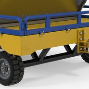 Airport Transport Trailer Low Bed Platform with Container Rigged. Preview 11