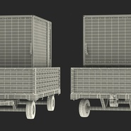 Airport Luggage Trolley with Container Rigged. Preview 31