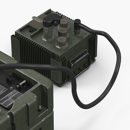 TOW Missile Guidance Set and Battery. Render 13