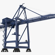 Container Crane Blue. Preview 7
