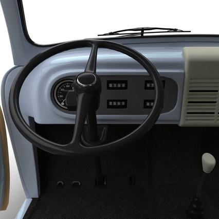 generic retro car simple interior 2 3d model. Black Bedroom Furniture Sets. Home Design Ideas