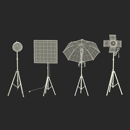 Photo Studio Lamps Collection. Render 69