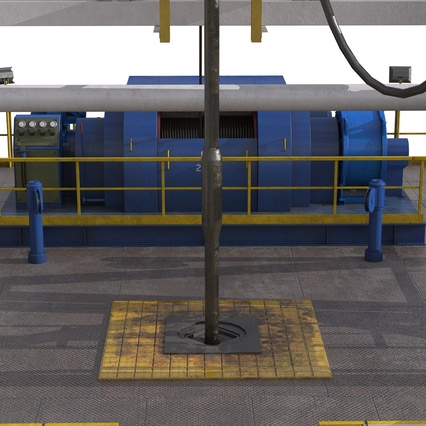 Fracking Gas Platform. Render 35