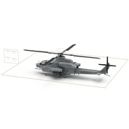 Attack Helicopter Bell AH 1Z Viper Rigged. Preview 83
