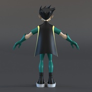 Robin Cartoon Character Rigged for Maya. Preview 8