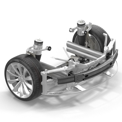 Tesla Model S Frame and Chassis. Render 26