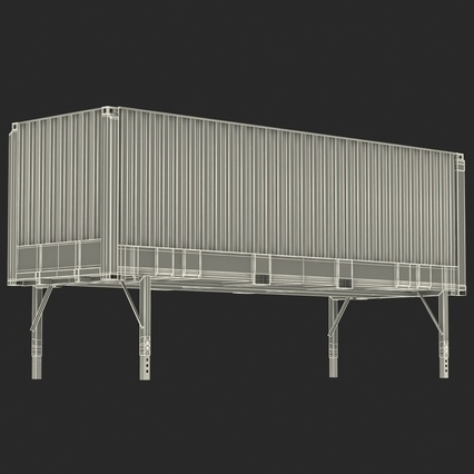 Swap Body Container ISO Blue. Render 26