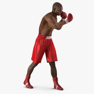 African American Boxer Red Suit 2 Rigged