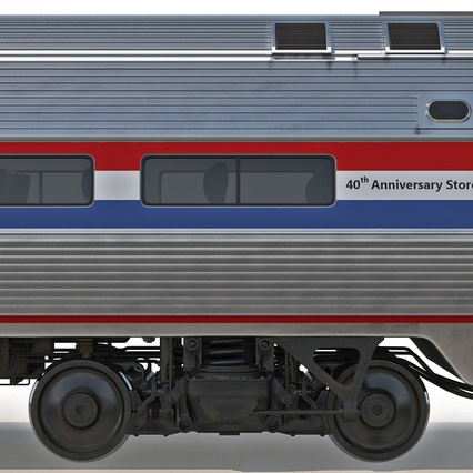 Railroad Amtrak Passenger Car 2. Render 32