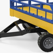 Airport Transport Trailer Low Bed Platform Rigged. Preview 14