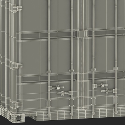 40 ft High Cube Container Blue 2. Render 50