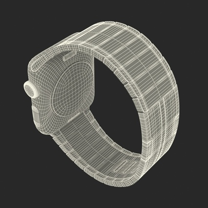 Apple Watch 38mm Link Bracelet Dark Space 2. Render 40