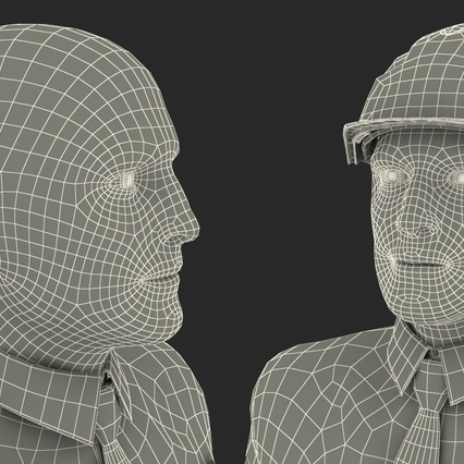 Construction Engineer in Hardhat Standing Pose. Render 26