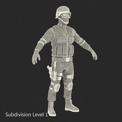 SWAT Man Mediterranean Rigged for Maya. Render 46