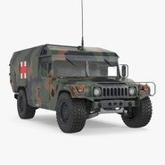 Mini Ambulance Military Car HMMWV m996 Camo