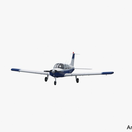 Piper PA-28-161 Cherokee Rigged. Render 4