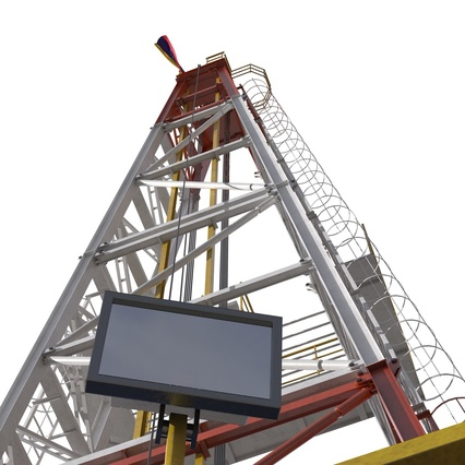 Fracking Gas Platform. Render 34