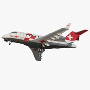 Swiss Air Ambulance Jet Bombardier Challenger 604 Rigged